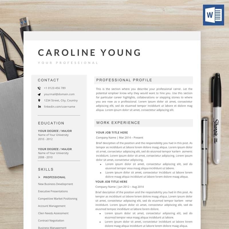 Caroline Young CV Template