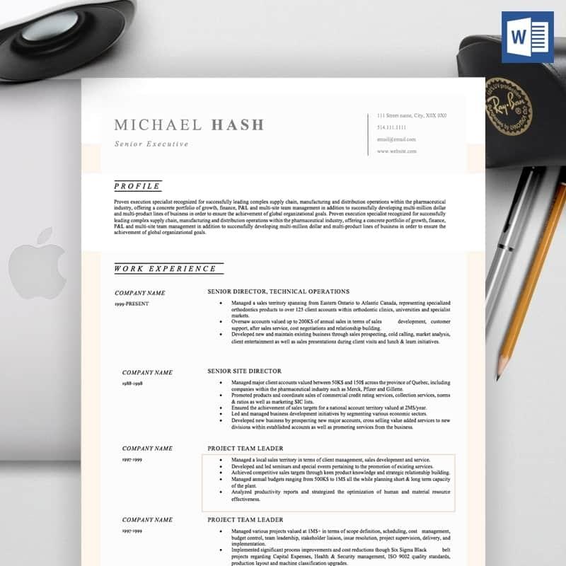 Michael Hash CV Template