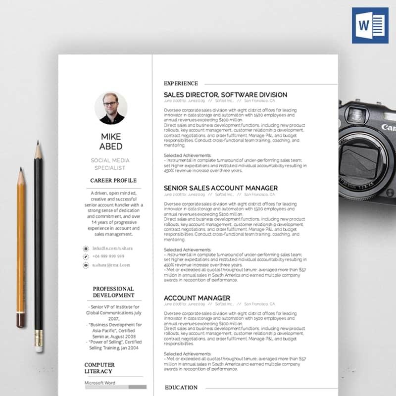 Mike Jobs CV Template